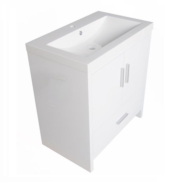 "Meuble-lavabo «Relax», 30,12"", blanc laqué"