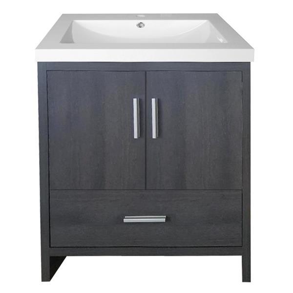 Meuble-lavabo Smally de Luxo Marbre, 24,5 po, gris foncé