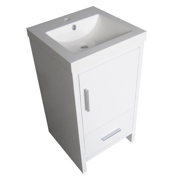 "Meuble-lavabo «Relax», 18"", blanc laqué"