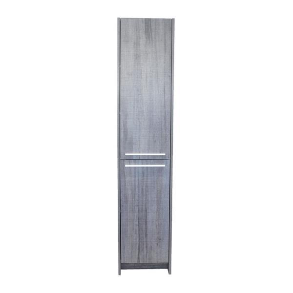 """Armoire latérale à 2 portes, 15,75"""" x 74,75"""", bleu/gris"""