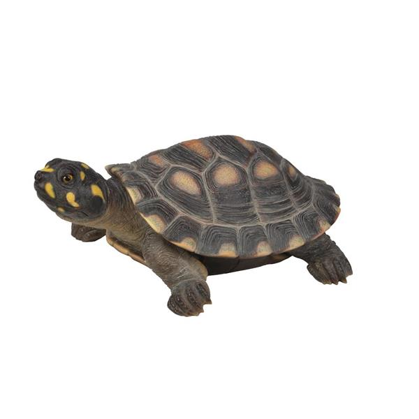 Statue de tortue à grandes taches, multicolore