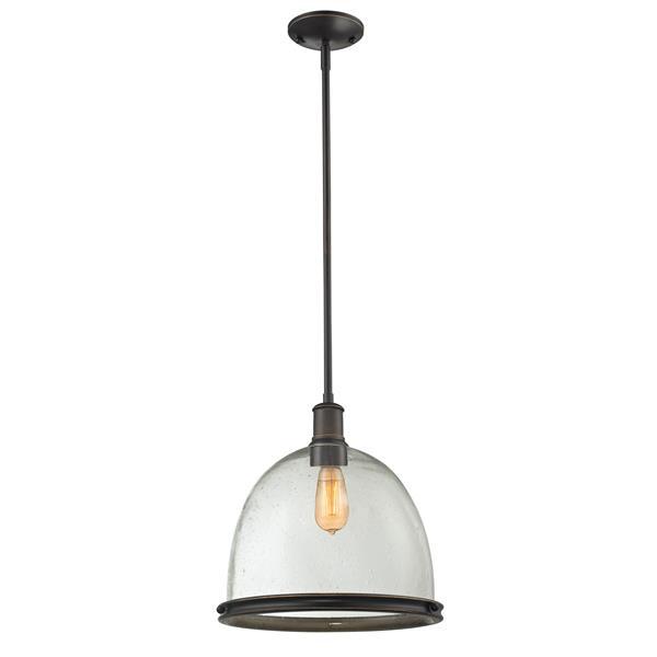 Lumière suspendue à 1 lumière «Mason», bronze