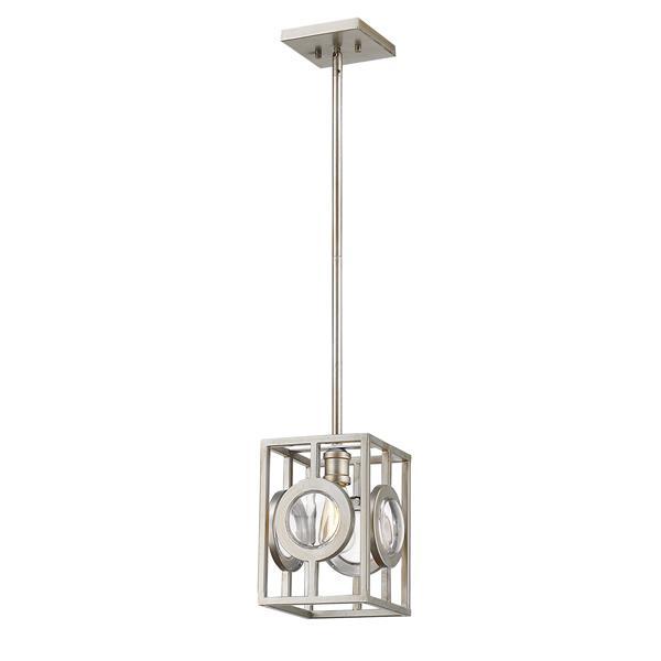 Lumière suspendue mini à 1 lumière «Port», gris