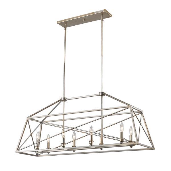 Lumière suspendue à 8 lumières «Tressle», gris