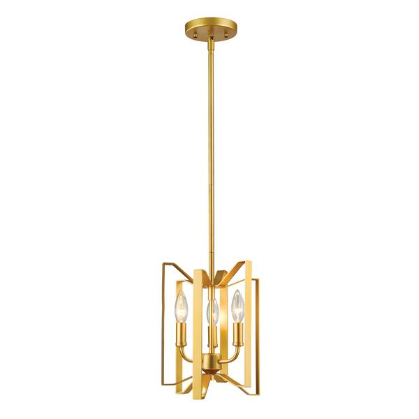 Lumière suspendue mini à 3 lumières «Marsala», or