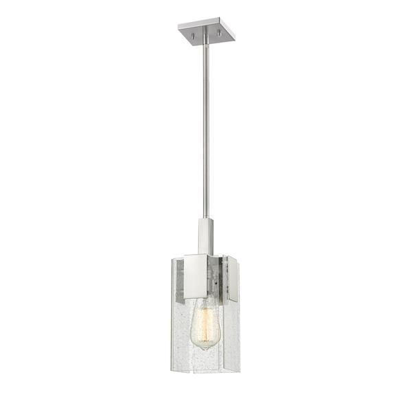 Lumière suspendue mini à 1 lumière «Gantt», nickel