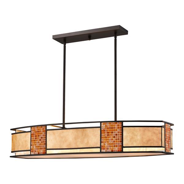 Luminaire à 3 lumières de billard/îlot «Parkwood», bronze