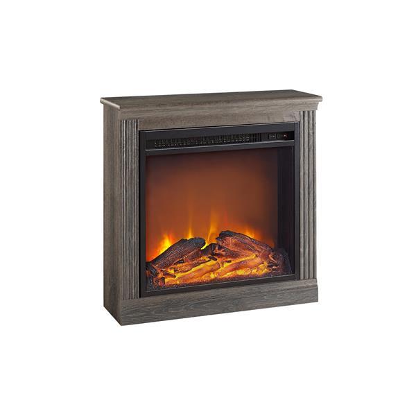 Ameriwood Home Bruxton Electric Fireplace - Medium Brown
