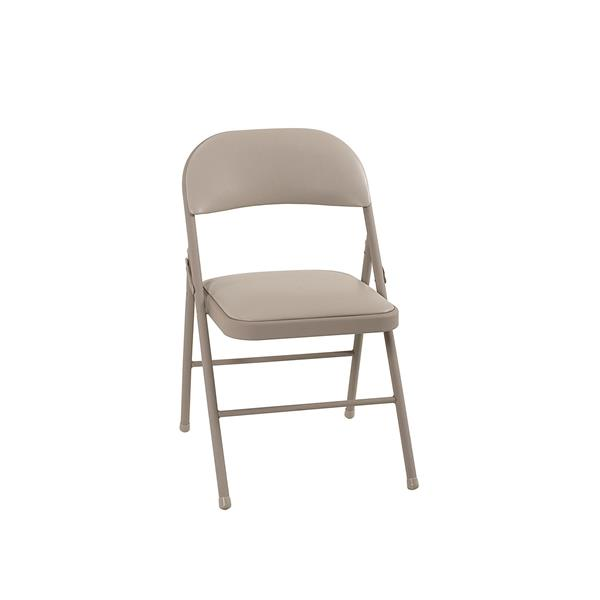 Ensemble de 4 chaises pliantes Cosco, vinyle beige