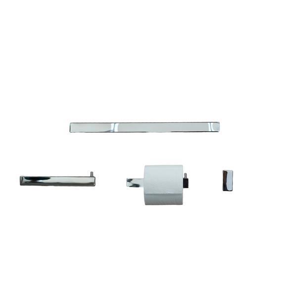 BOANN Sweden Bathroom Accessory Set - 4 PK - Polished Chrome
