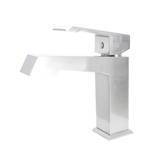 Robinet de lavabo à levier unique «Paris», nickel brossé