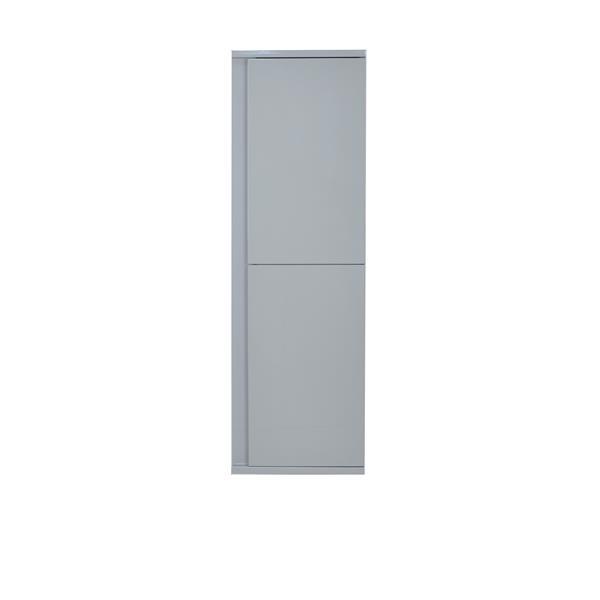 Armoire à linge murale Modo David, ouverture à gauche, gris