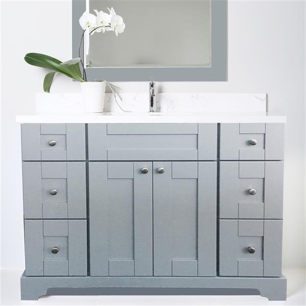 "Base de meuble-lavabo «Bold Damian», 42"", gris"