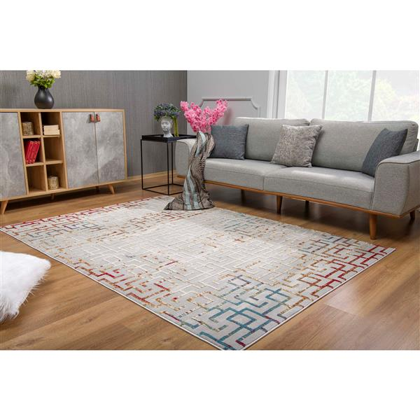 Rug Branch - Sun Shine Rug  Vogue Modern Area Rug - 5-ft 3-in x 7-ft 7-in, Multicolored