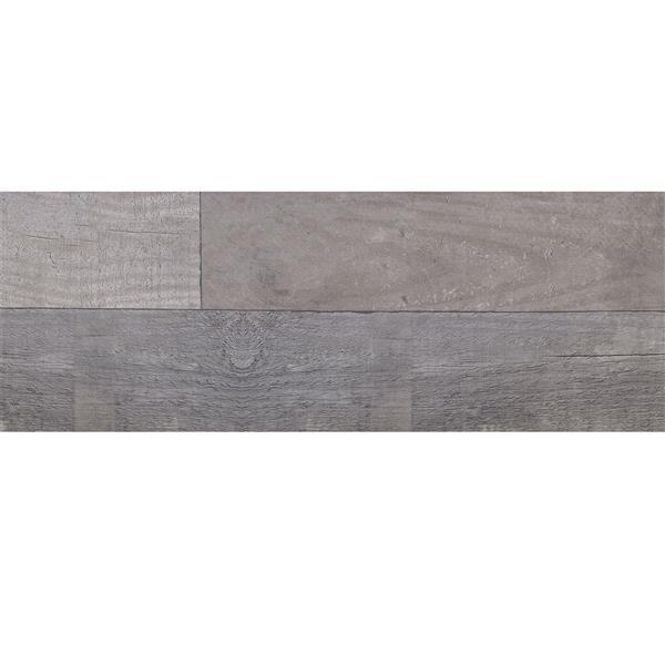 "Mono Serra Tuile Porcelaine -  Bois Flotte Grigio, mur/sol, 7"" x 25"" (17 mcx / boite)"