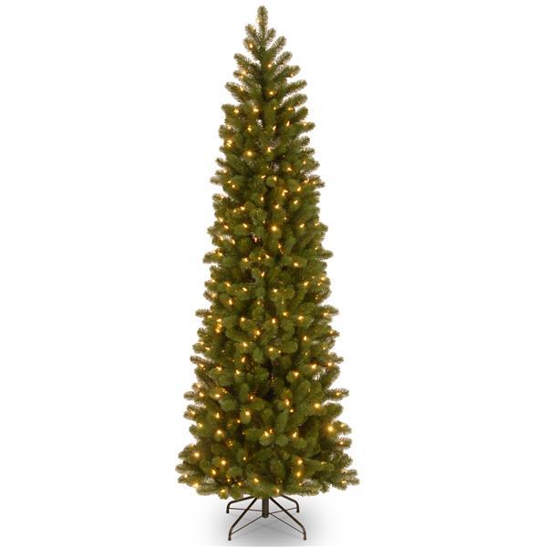 Downswept Douglas Pencil Fir Christmas Tree - 7.5-ft - Green