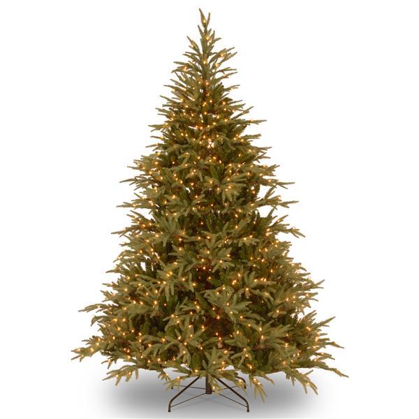 Frasier Grande Christmas Tree with Colour LED Lights - 7.5-ft - Green