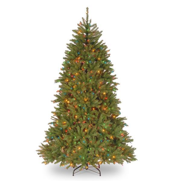 Sapin de Noël avec lumières mulitcolores Dunhill(MD), 7,5 pi, vert