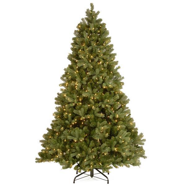 Sapin de Noël  avec lumières transparentes Douglas, 7,5 pi, vert