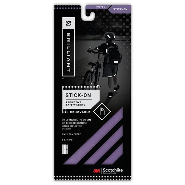 Spacio Innovations Inc. Reflective Strips Stick-On - Purple - 8 Strips