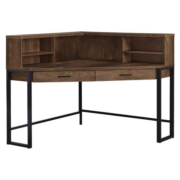 Monarch Specialties Corner, Corner Desk Brown