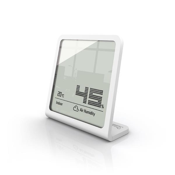 Hygromètre Selina de Stadler Form, 3,66 po x 3,54 po, blanc