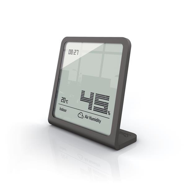 Hygromètre Selina de Stadler Form, température et humidité, gris