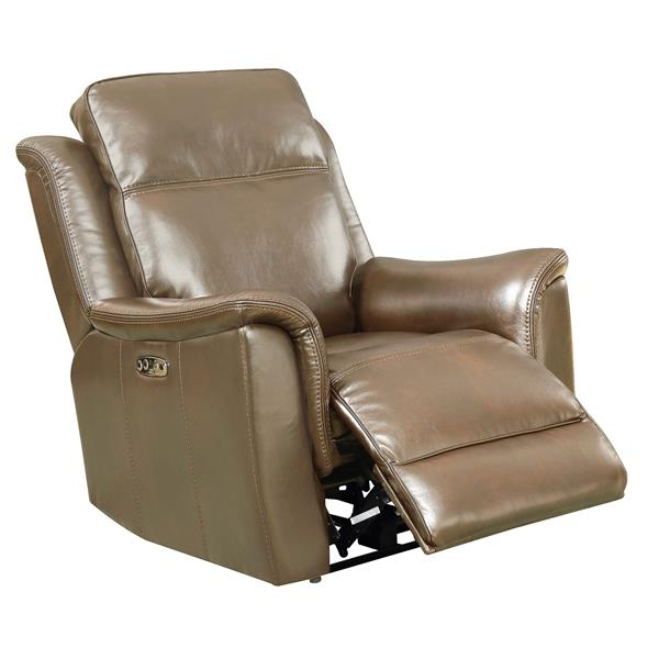 Sunset Trading Bryson Recliner with Headrest and Lumbar Support - Tan