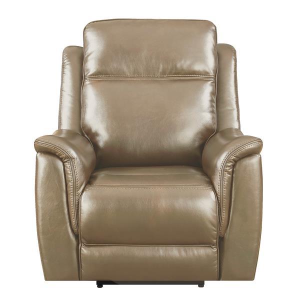 Fauteuil inclinable Bryson de Sunset Trading, appuie-tête et soutien lombaire, beige