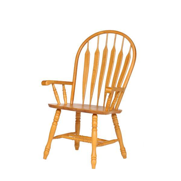 Chaise de salle à manger Oak Selections de Sunset Trading, 41 po x 21.5 po, chêne clair