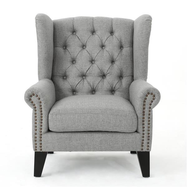 Fauteuil d'appoint en tissu Laird de Best Selling Home Decor, gris
