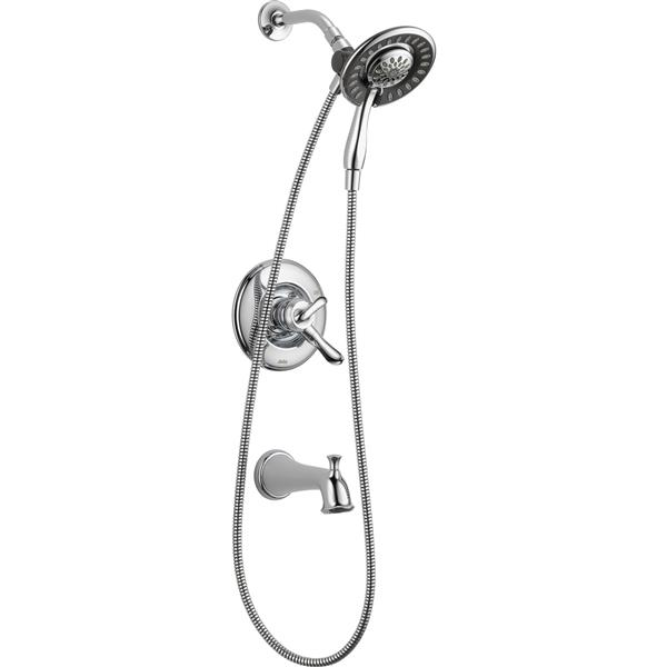 DELTA and PEERLESS COMPLETE SET In2ition Shower Head TRIM AND VALVE INCLUDED