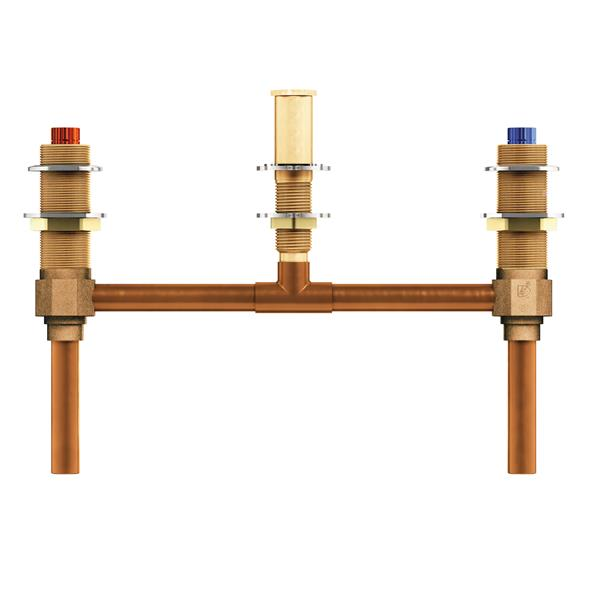 Moen Valve System for Roman Bathtub - 2-Handle - 10-in Center - 0.5-in CC Connection