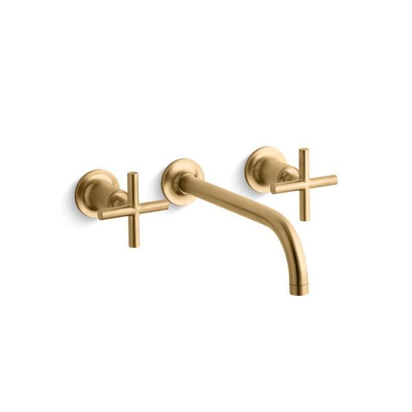 KOHLER Purist Bathroom Faucet - 2-Handle - Brushed Gold