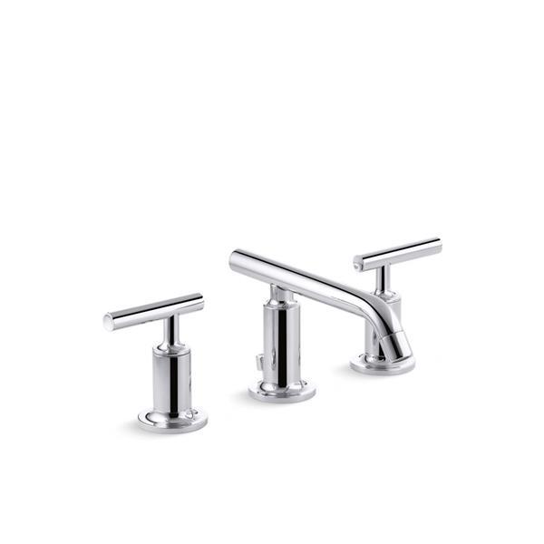 KOHLER Purist Bathroom Faucet - 2-Handle - WaterSense Labeled - Polished Chrome