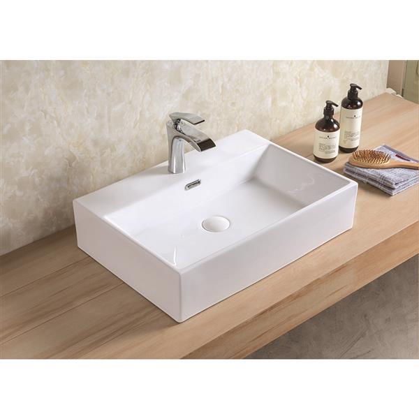 Vasque Xander de A&E Bath & Shower, céramique, blanc