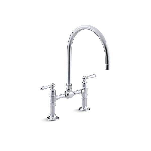 Kohler Hirise Two Hole Kitchen Sink Faucet 7337 4 S Reno Depot