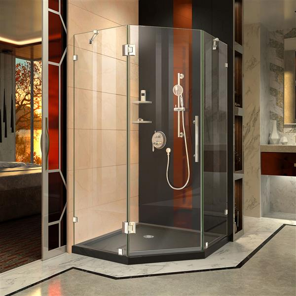 """DreamLine Prism Lux Shower Enclosure Kit - 40"""" - Chrome"""