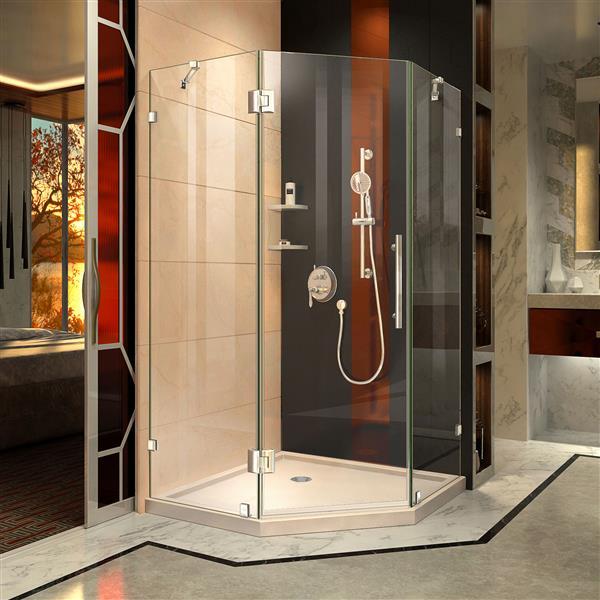 "DreamLine Prism Lux Shower Enclosure/Base Kit - 40""- Chrome"