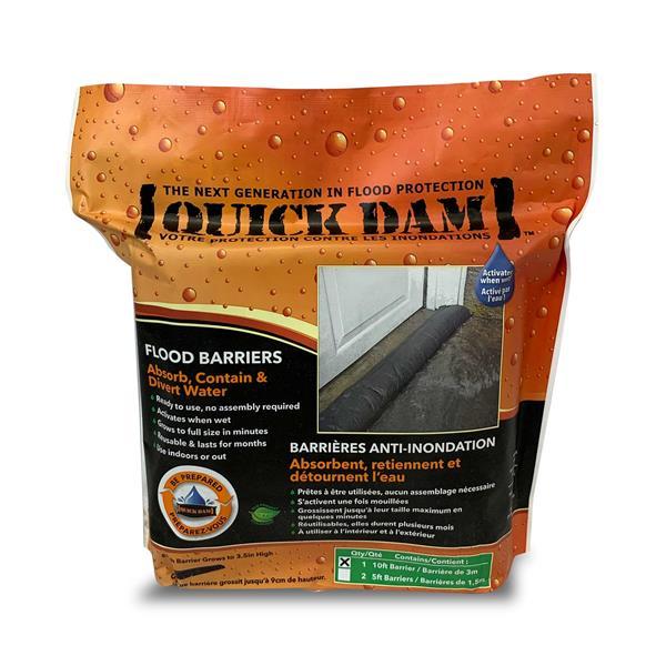 Barrière anti-inondation Quick Dam, 17 pi, 1/paquet