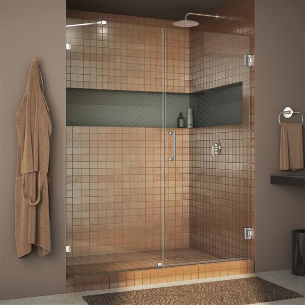 DreamLine Unidoor Lux Shower Door - Clear Glass - 57-in - Chrome