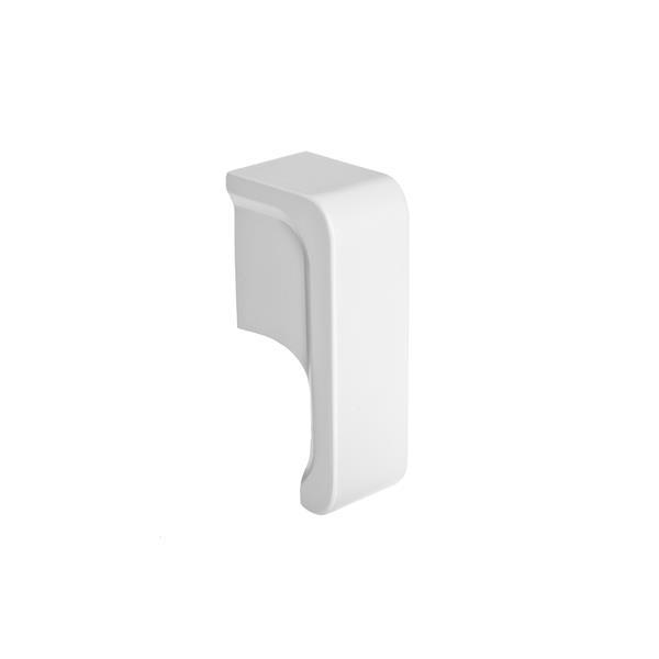 Veil Titan Baseboard Heater Cover - Right Open Endcap - 2-3/4-in - Satin White Aluminum