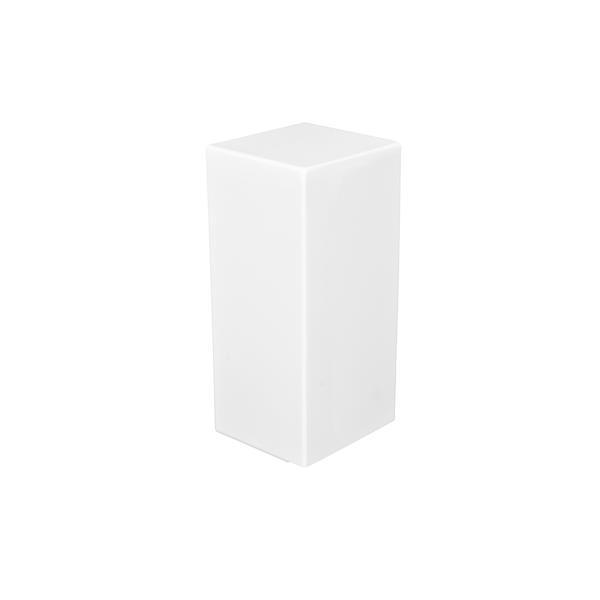Veil Atlas Baseboard Heater Cover - Right Closed Endcap - 2-3/4-in - Satin White Aluminum
