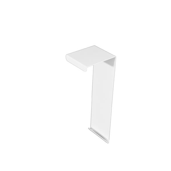 Veil Atlas XL Baseboard Heater Cover - Coupler - 2-3/4-in - Satin White Aluminum
