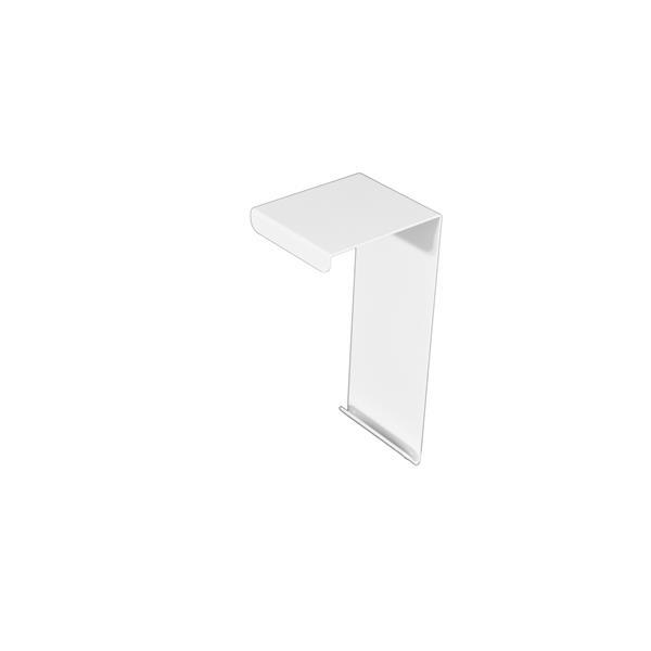 Veil Atlas Baseboard Heater Cover - Coupler - 2-3/4-in - Satin White Aluminum