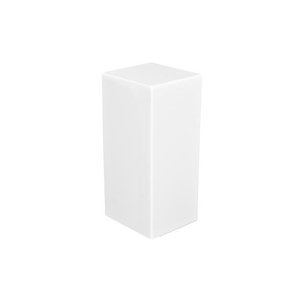 Veil Atlas Baseboard Heater Cover - Left Closed Endcap - 2-3/4-in - Satin White Aluminum