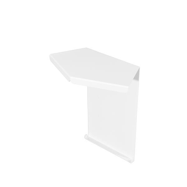 Veil Atlas XL Baseboard Heater Cover - 135° Inside Corner - 2-3/4-in - Satin White Aluminum
