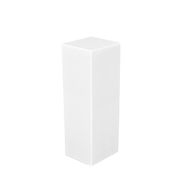 Veil Atlas XL Baseboard Heater Cover - Right Closed Endcap - 2-3/4-in - Satin White Aluminum