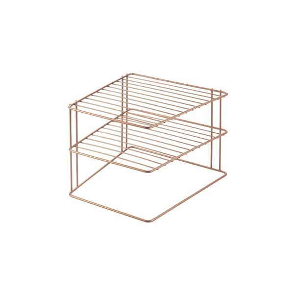Metaltex Palio Space-Saver Corner Rack - Metal - Copper