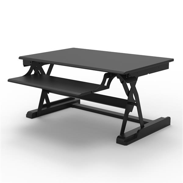 Luxor Level Up Premier Standing Desk Converter - Black